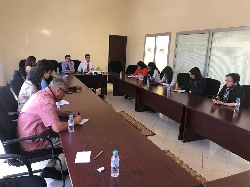 Réunion avec le directeur du CRI de Dakhla Oued Eddahab.
