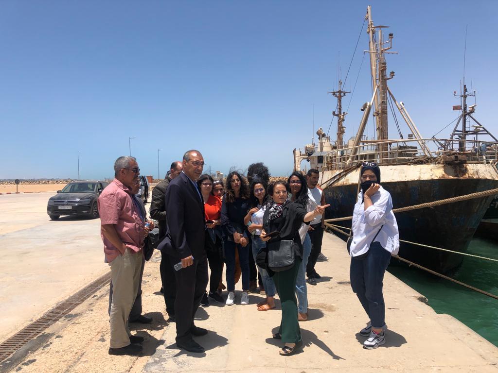 Visite et présentation du port de Dakhla avec l'ANP